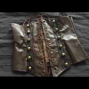 Tops - Corset costume brown